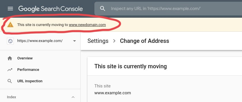 On Screen Reminder Google Search Console